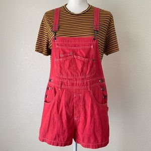 Vintage London London Jeans Red Shorts Overalls M